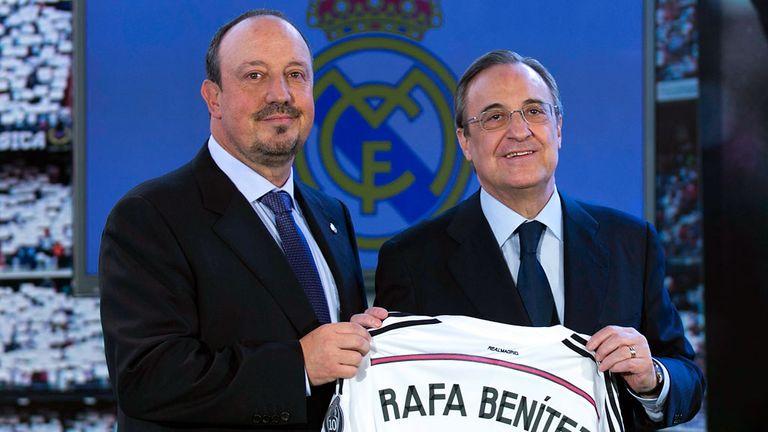 Rafael Benitez and Real Madrid president Florentino Perez