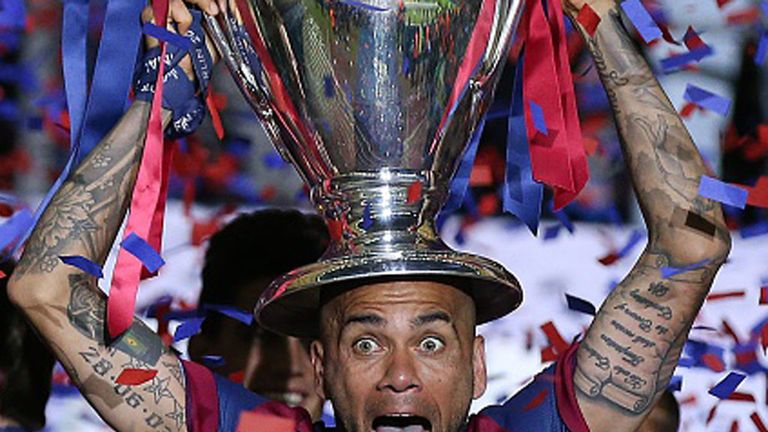 Alves won 23 trophies in eight years at Barcelona