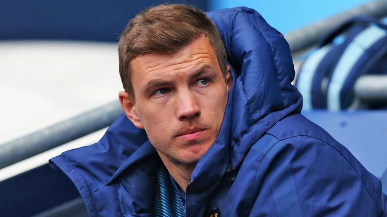 Edin Dzeko is expected to complete his move from Manchester City to Roma on Saturday