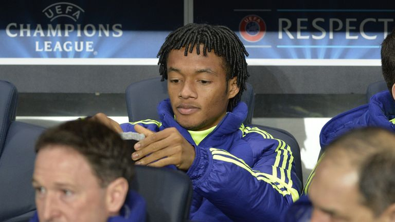 Cuadrado has struggled for playing time with Chelsea