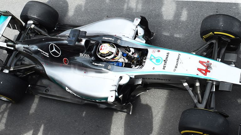 Race winner Lewis Hamilton in parc ferme at Montreal