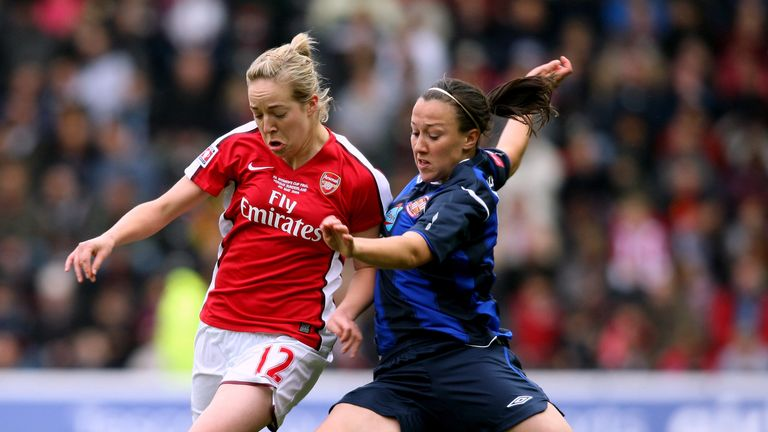 Lucy Bronze (right) played for Sunderland before moving to North Carolina