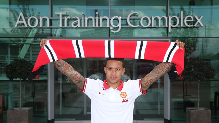 Memphis Depay: Manchester United's new signing is given a value of £23.9m