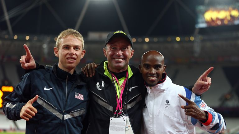 Alberto Salazar (C): Farah's coach at the centre of doping allegations in television documentary