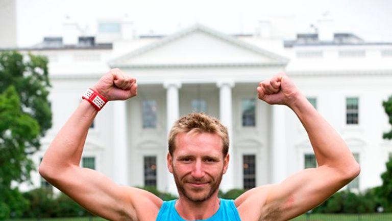 Rob Young celebrates outside the White House (Doug Seeburg/The Sun)