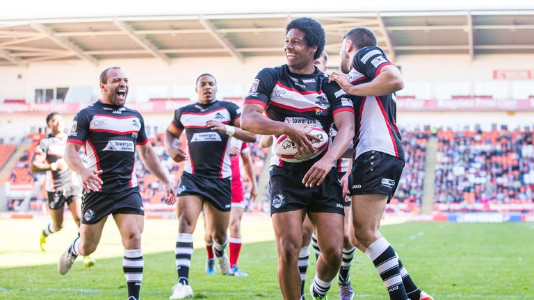 Oscar Thomas scored a try in London Broncos' win over Leigh Centurions