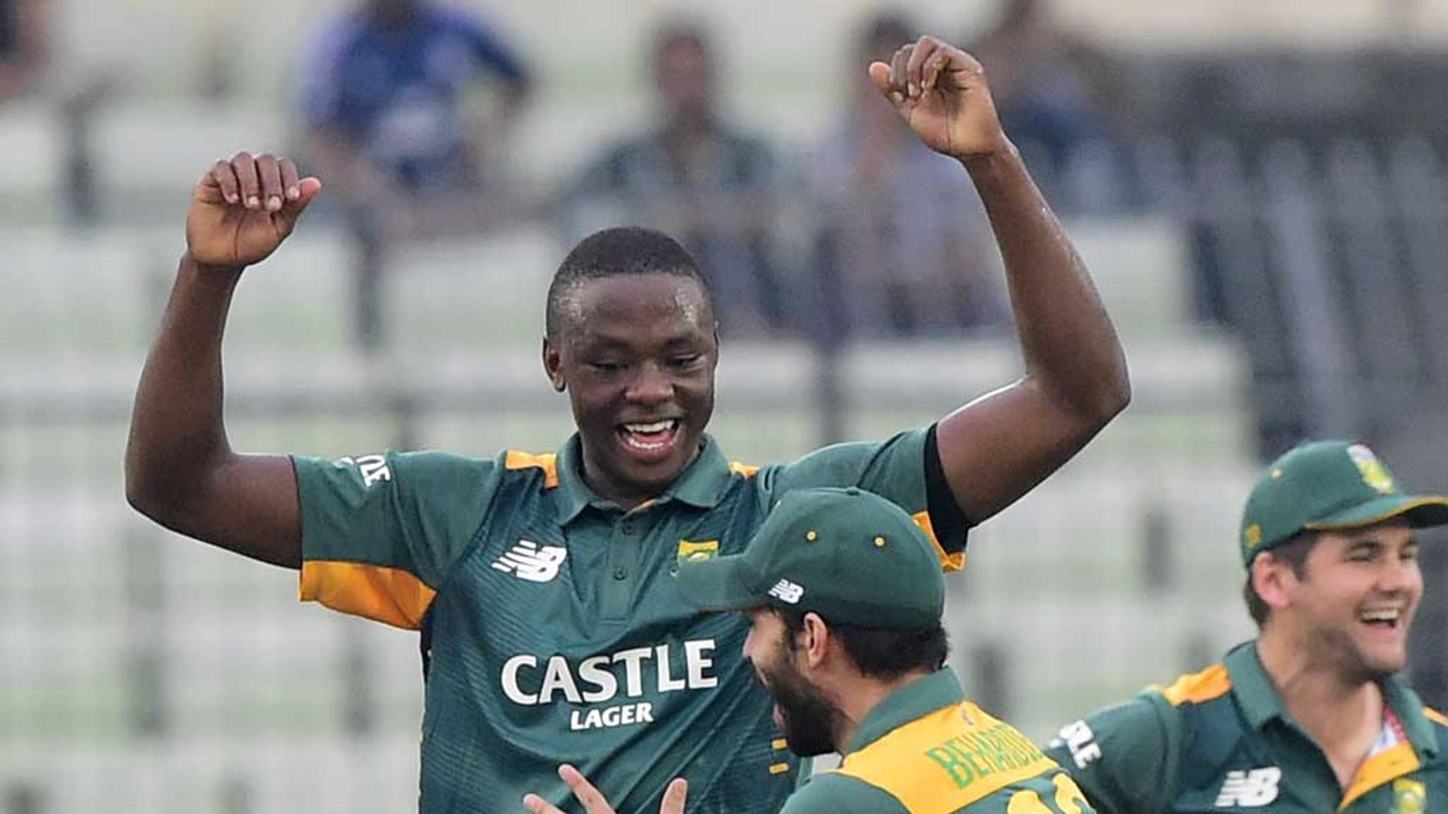 Kagiso Rabada takes hat-trick on ODI debut for South Africa | Cricket News  | Sky Sports