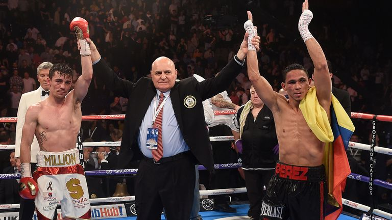 The draw result between Crolla and Perez is announced