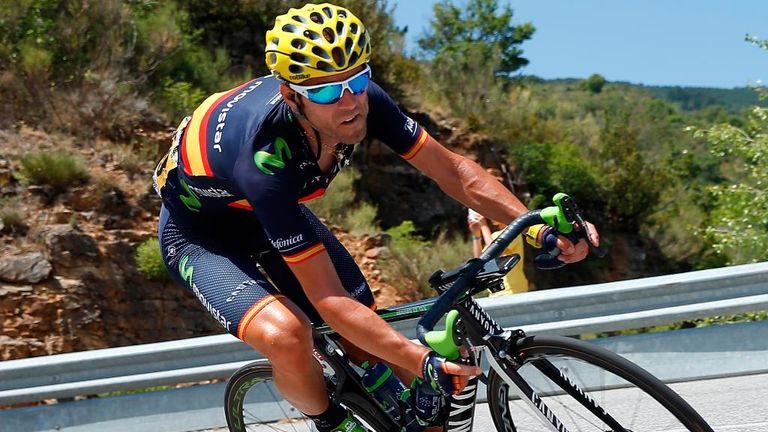 Alejandro Valverde finished an impressive third at the Tour