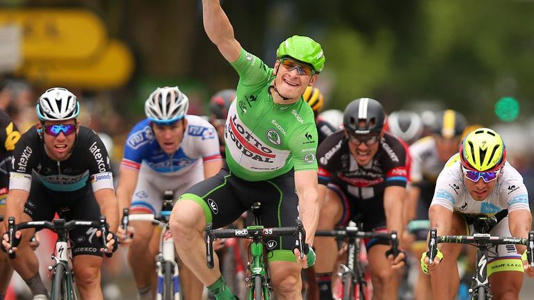 Andre Greipel claimed his second win on stage five