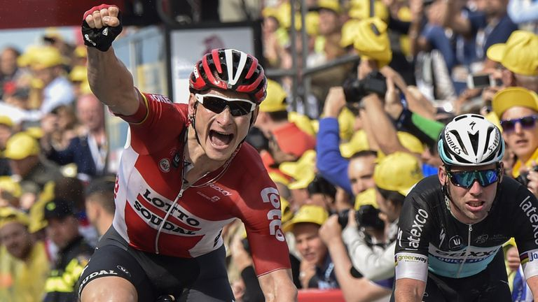 Andre Greipel prevailed in a bunch sprint on stage two