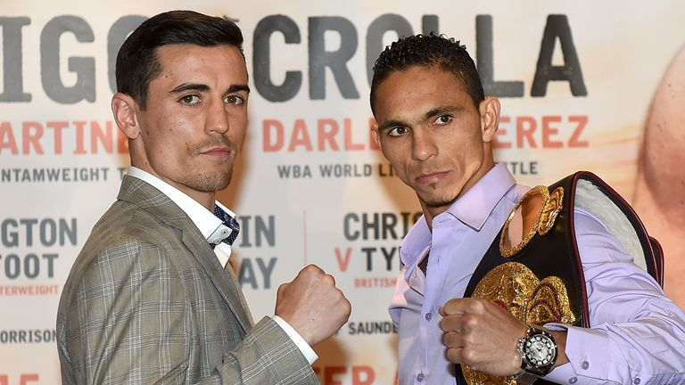 Anthony Crolla (left) takes on Darleys Perez in what many are calling a 50-50 fight. The Panal are split...