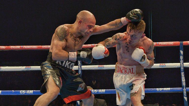 Kiko Martinez (L): Spaniard has twice lost to Scott Quigg's rival Carl Frampton