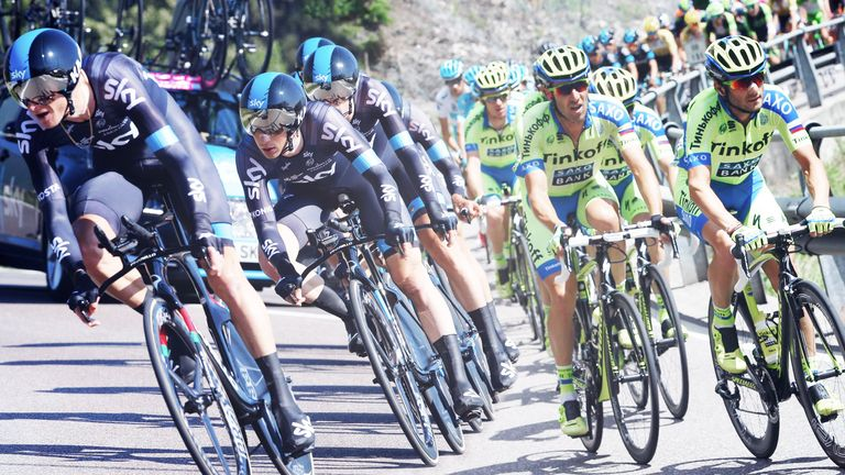 Along with Movistar and Astana, Team Sky and Tinkoff-Saxo will go head to head at the Tour de France