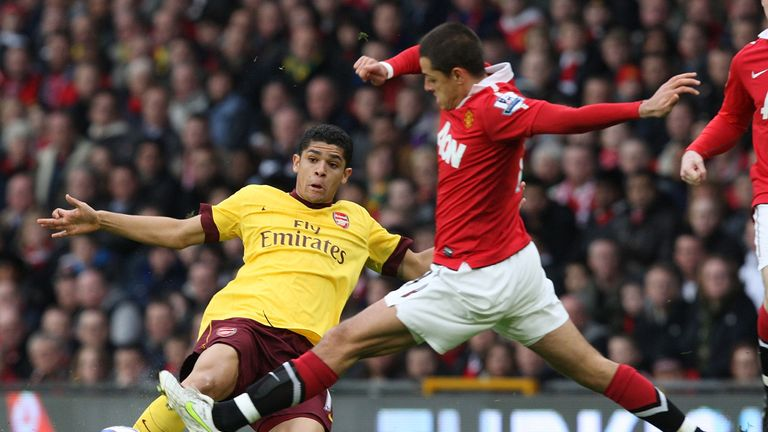 Denilson (left) made over 150 appearances in Arsenal's midfield