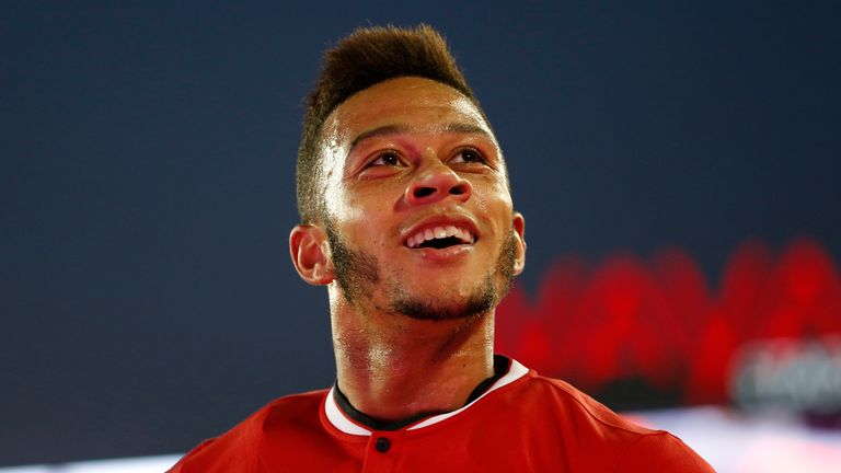 Memphis Depay: Delighted with his first United goal