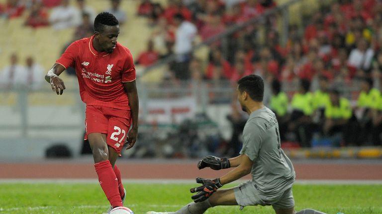 Divock Origi: Was denied by Khairul Azhan Khalid in the Malaysia XI goal