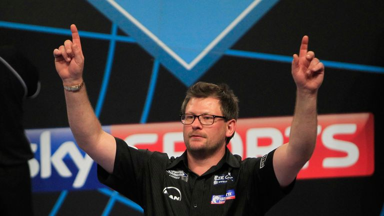 James Wade edged Michael van Gerwen in the last four