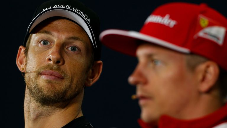 Jenson Button (left) isn't focusing on 2016 yet