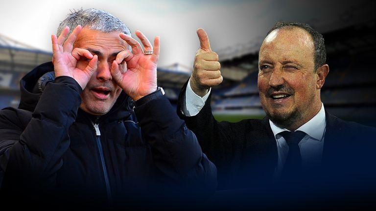 Jose Mourinho (left) and Rafa Benitez's war of words dates back to 2005