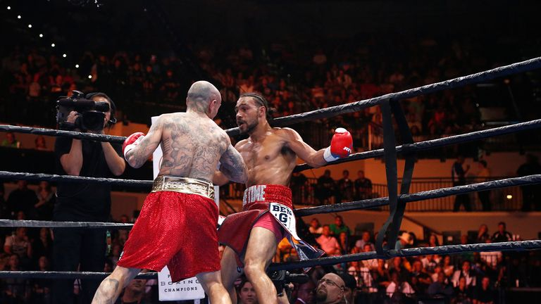 Collazo (left) has Thurman in trouble