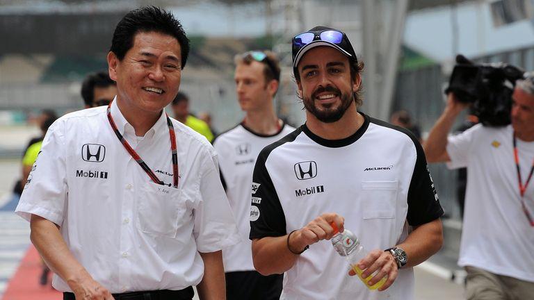 Honda's Yasuhisa Arai (left) has guarded against expectations