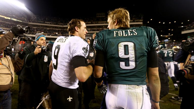 Drew Brees and the Saints got the better of the Eagles in the 2013 playoffs