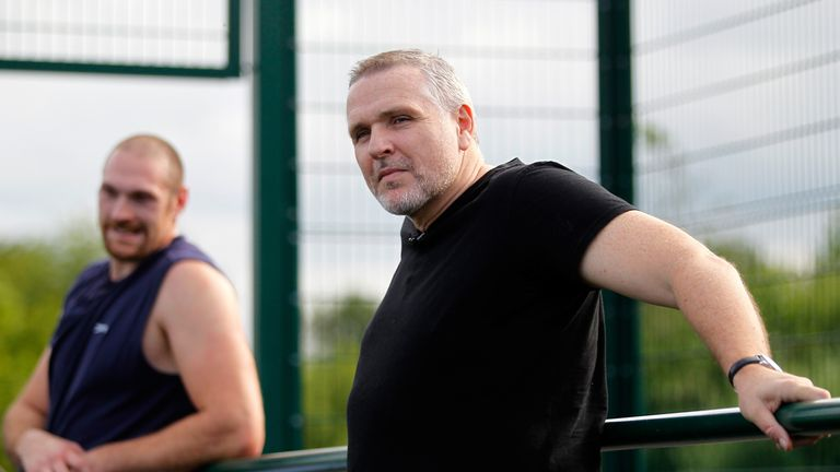 Peter Fury (right): Complete faith in nephew Tyson (left)