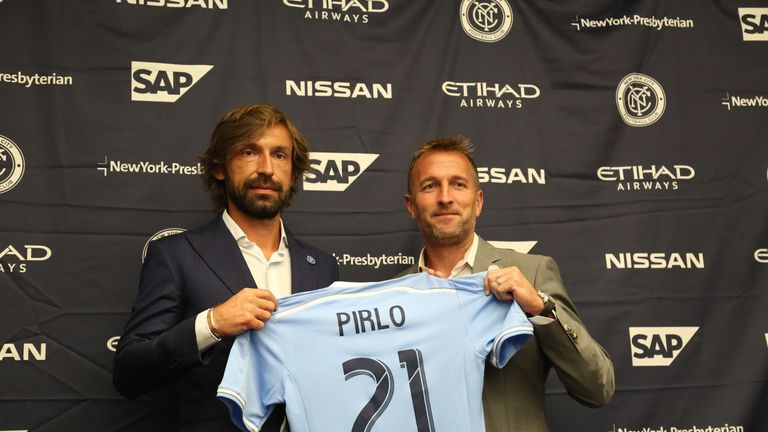 Andrea Pirlo was unveiled by New York City FC on Thursday