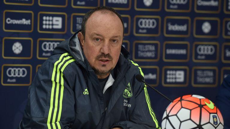Rafael Benitez addressed Sergio Ramos' future at a press conference in Melbourne