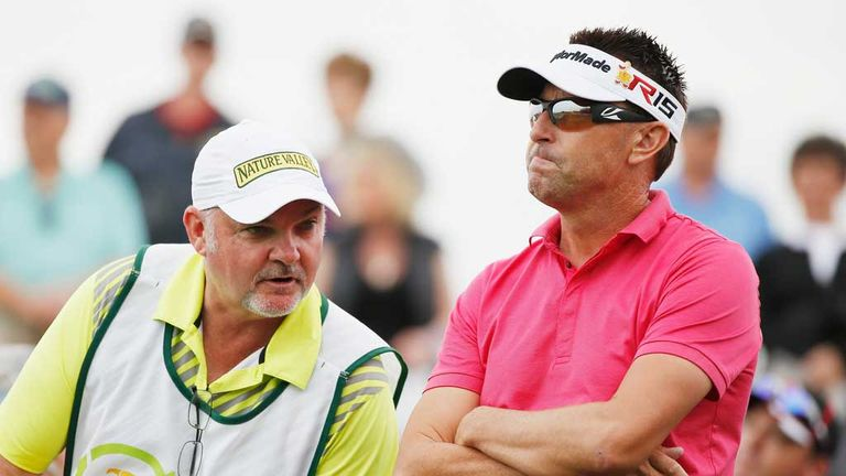 Robert Allenby and his caddie Mick Middlemo earlier this season