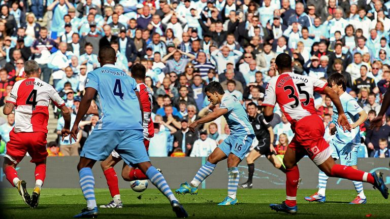 Sergio Aguero: Scores City's title-winning goal in 2012, an occasion Unal celebrated himself