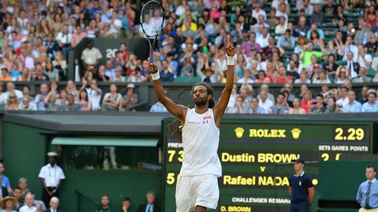 Germany's Dustin Brown celebrates beating Spain's Rafael Nadal at Wimbledon, but who is the real 'Dreddy'?