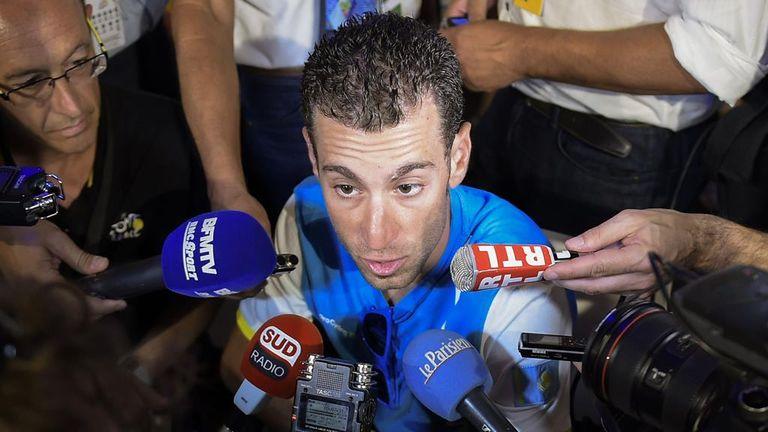 Vincenzo Nibali addresses the media at his pre-Tour de France press conference