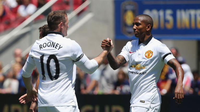 Rooney's team-mate Ashley Young asked the questions during a Facebook event