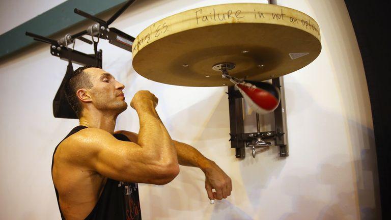 Wladimir Klitschko is preparing for Tyson Fury