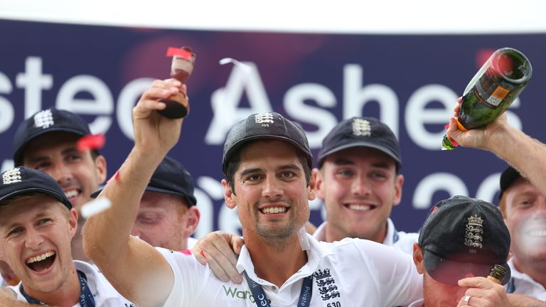 Cook won two Ashes series as captain, in 2013 and 2015