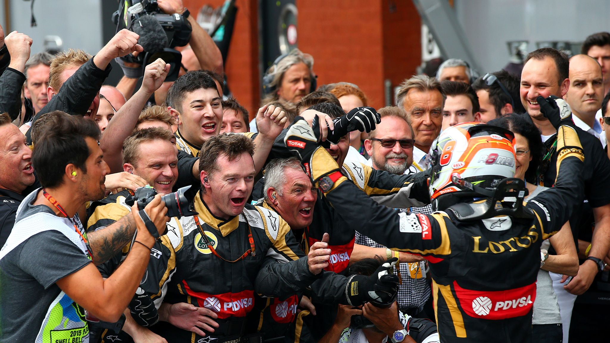 Romain Grosjean delighted to end Lotus's podium drought at Spa