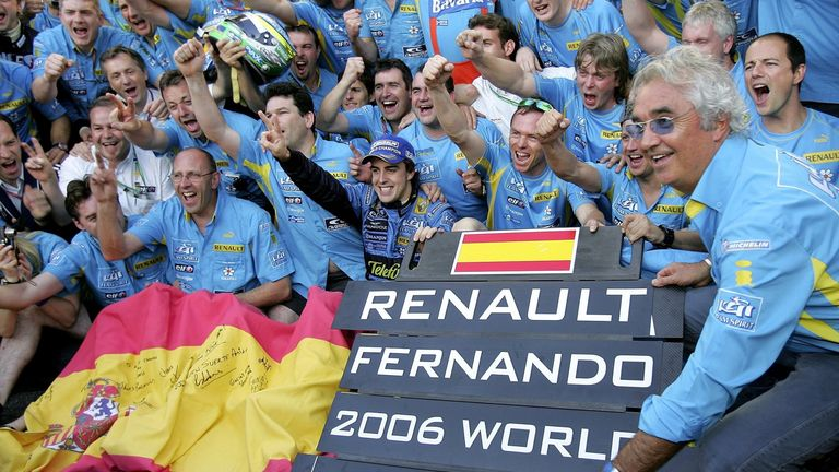 The Enstone team won back to back world titles as Renault