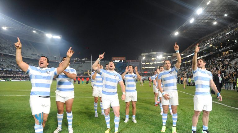Argentina celebrate after completing their historic win
