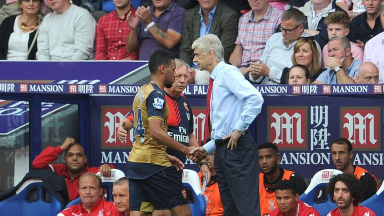 Arsene Wenger replaced Francis Coquelin with the Crystal Palace crowd calling for his dismissal