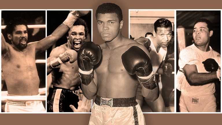 Muhammad Ali, Sugar Ray Leonard, Sugar Ray Robinson, Roberto Duran and Joe Louis made more than one list each.
