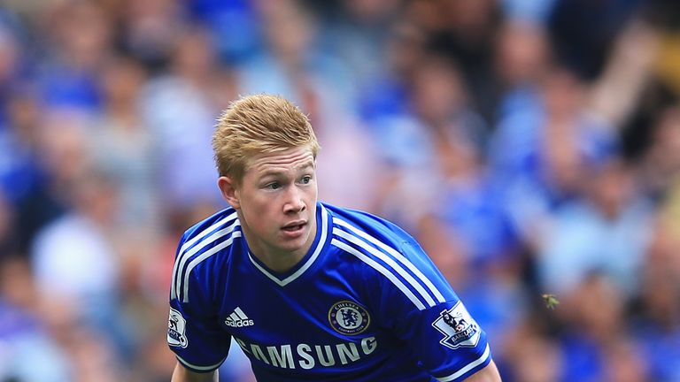 De Bruyne joined Chelsea in 2012, but made just three Premier League appearances
