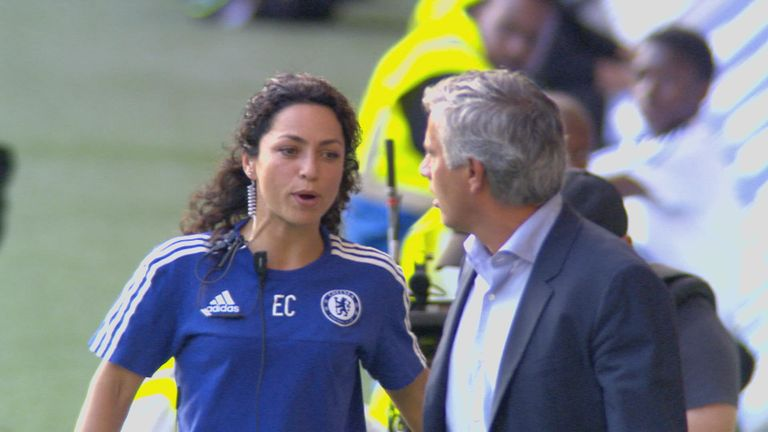 Eva Carneiro (left) and Jose Mourinho clashed on the touchline after Eden Hazard received treatment against Swansea