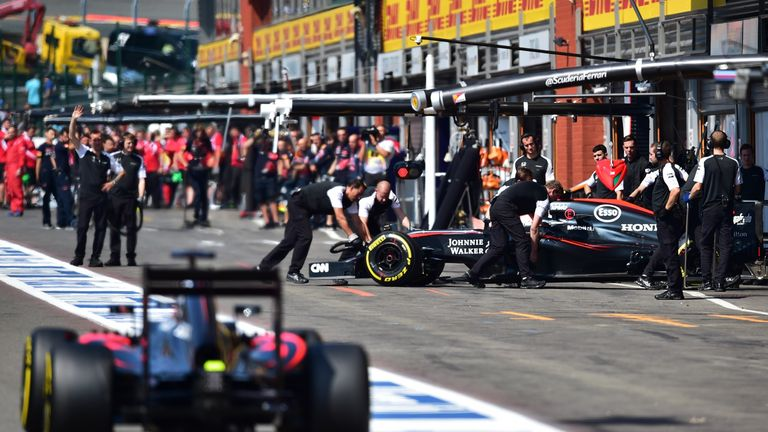 McLaren's participation in Belgian GP qualifying ended early