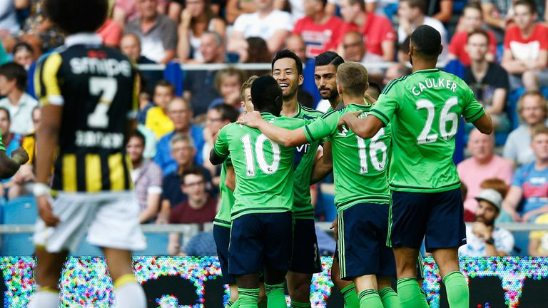 Pelle mobbed after scoring again