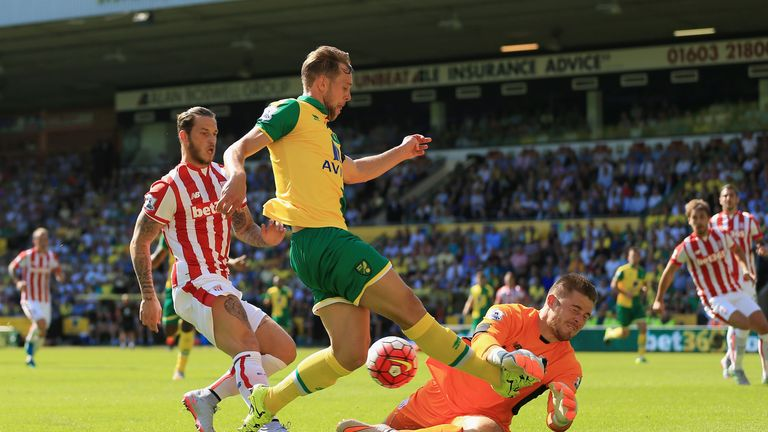 Stoke City's Jack Butland produced several excellent saves