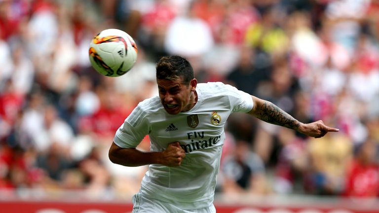 James Rodriguez heads Real Madrid in front