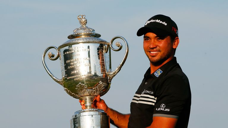 Jason Day with the PGA Championship trophy at Whistling Straits