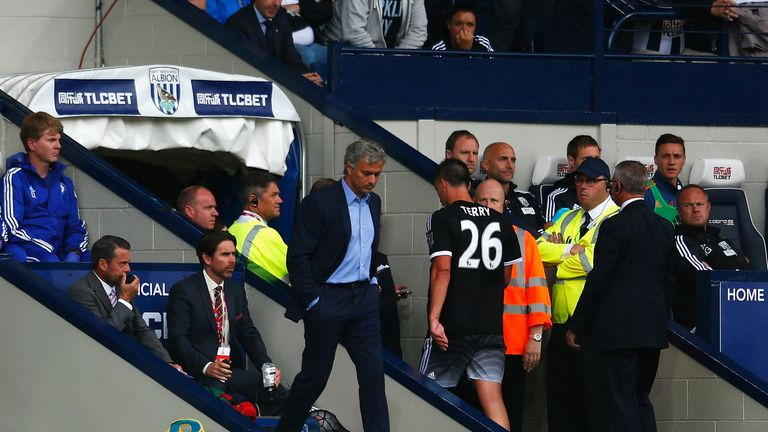 Terry was sent off against West Brom but has Mourinho's total confidence